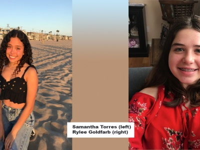 Samantha Torres and Rylee Goldfarb
